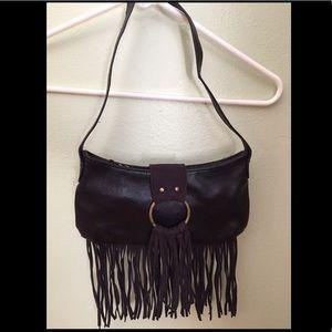Small fringe handbag
